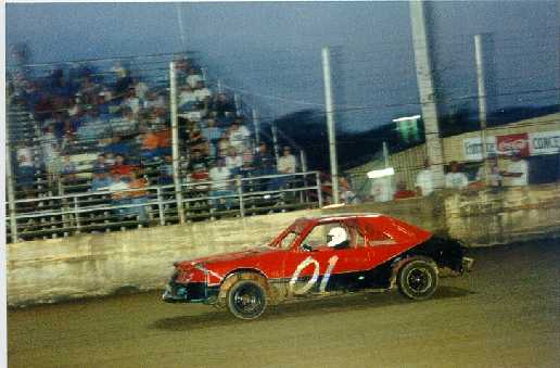 Tyler Hudson in the 01 car at JMS